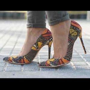 Zara butterfly heels